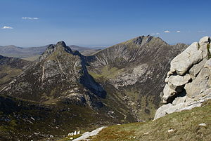 Isle of Arran - Cìr Mhòr and Caisteal Abhail seen from North Goatfell