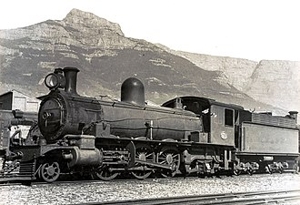 South African Class 6Y 2-6-2 - No. 712 at Paardeneiland, c. 1930