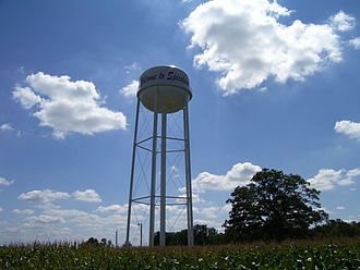 Spiceland, Indiana - Spiceland water tower