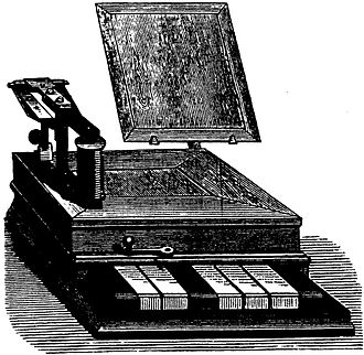 "Baudot code - An early ""piano"" Baudot keyboard"