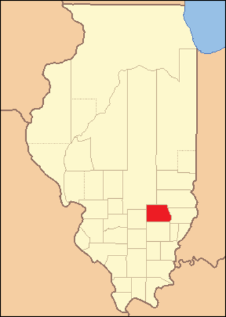 Clay County, Illinois - Image: Clay County Illinois 1824