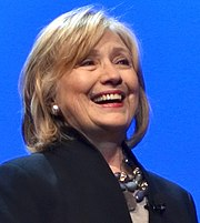 Close up Hillary Clinton laughing October 2014