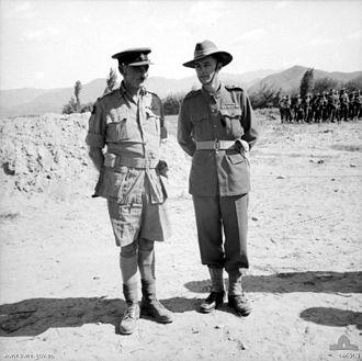 Basil Coad - Coad (left) with Lieutenant Colonel Charles Green, CO of the 3rd Battalion, Royal Australian Regiment, at Taegu, Korea on 28 September 1950.