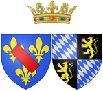 Coat of arms of Anne of Bavaria as Princess of Condé.png