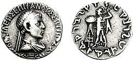 Coin of Indo-Greek king Polyxenos.jpg