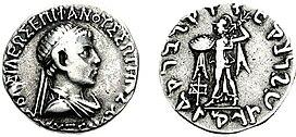 Coin of Indo-Greek king Polyxenos.jpg