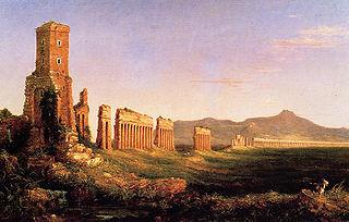 <i>Aqueduct near Rome</i> painting by Thomas Cole