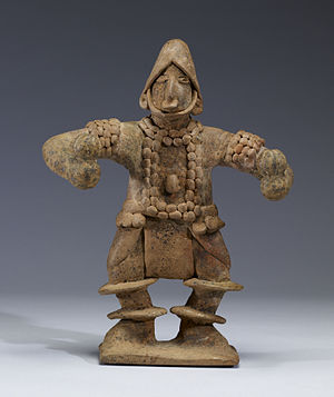William Spratling - Image: Colima Standing Figure with Elaborate Costume Holding Rattles Walters 482808