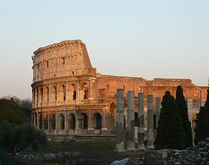 Architecture of Rome - The Colosseum.