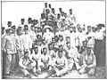 Colombine rodeada de oficiales y soldades de artillería, Goñi.jpg
