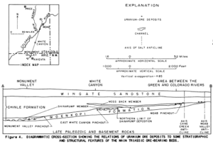 Uranium mining in arizona revolvy geologic cross section through monument valley and white canyon showing key geologic features publicscrutiny Images
