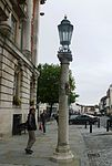 Column and Street Light, Right of Entrance to Colchester Town Hall.JPG