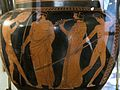 Column crater, red figure, 440 BC, palaistra scene, AM Agrigento, 120981x.jpg