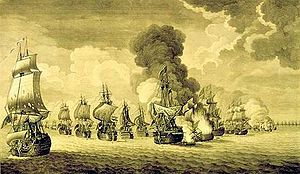 Thomas Mathews - The Battle of Toulon, by Diego de Mesa