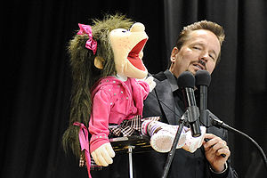 Comedian Terry Fator on stage