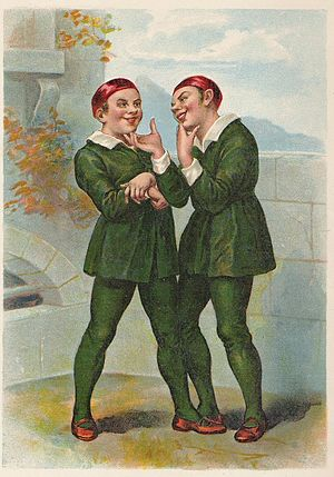 The Comedy of Errors - The Dromios from a frontispiece dated 1890