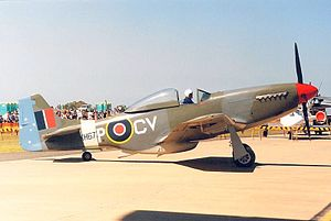 Commonwealth Aircraft Corporation CA-18 Mustang (VH-JUC) in No. 3 Squadron RAAF (KH677) colours.jpg