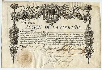 Guipuzcoan Company of Caracas - Stock certificate of the Guipuzcoana Company (Madrid, 1 June 1752