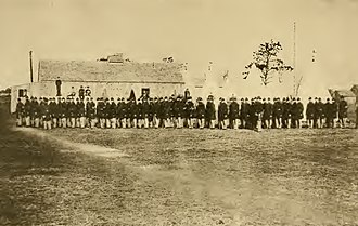 45th Regiment Massachusetts Volunteer Infantry - Image: Company A at Readville