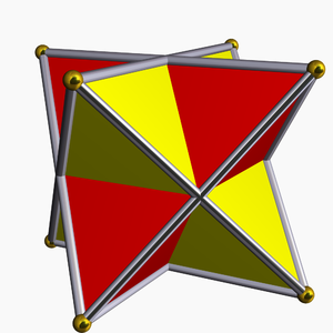 Polytope compound - Image: Compound of two tetrahedra