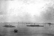 Confederate ironclads Chicora and Palmetto State in Charleston harbor