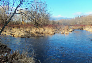 Quassaick Creek - Image: Confluence of Quassaick and Bushville creeks, Newburgh, NY