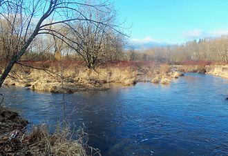 Quassaick Creek - Image: Confluence of Quassaick and Bushville creeks, Newburgh, NY