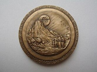 Medallic Art Company - Cooper Medal reverse