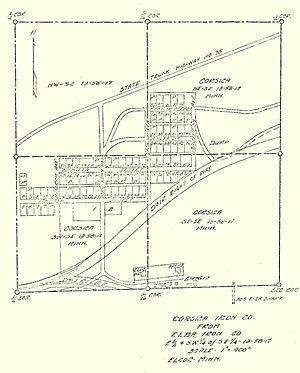 Elcor, Minnesota - Image: Copy of Elcor Townsite Plat