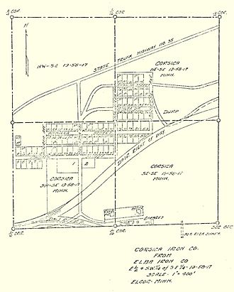 Elcor, Minnesota - Image: Copy of Elcor Townsite Plat