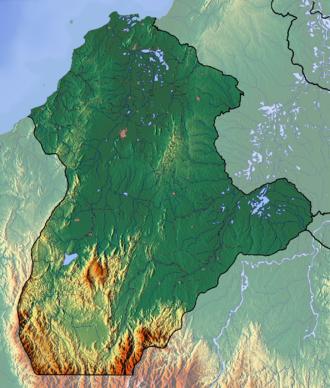 Córdoba Department - Image: Cordoba Topographic 2