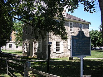 Battle of Corydon - The old state capitol building and then county courthouse where Col. Jordan ran up the white flag