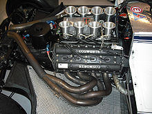 Photo du moteur Ford-Cosworth DFV.