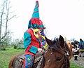 Courir de Mardi Gras Horse rider with capuchon Savoy, La 2011.jpg