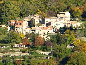 Courmes - A general view of the village