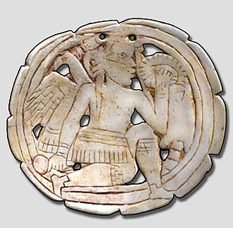 Southeastern Ceremonial Complex - Craig style shell gorget from Spiro