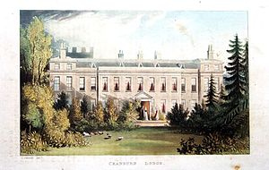 George Villiers (1759–1827) - Cranbourne Lodge (by John Gendall) in what is now Windsor Great Park was Villiers' home from 1805 to 1812