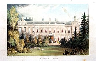 George Villiers (1759–1827) - Cranbourne Lodge (by John Gendall) in what is now Windsor Great Park, Villiers' home from 1805 to 1812