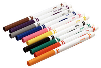 English: The markers in a standard 10-pack of ...