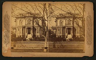 Crocker Art Museum - The Crocker Mansion (in a stereoscopic view)