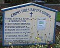 Cross Hills Baptist Church Noticeboard - geograph.org.uk - 239889.jpg