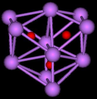 Alkali metal oxide - Structure of undecacaesium trioxide.