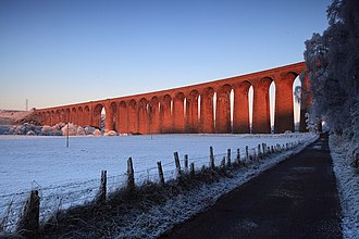 Highland Railway - The Nairn viaduct, otherwise known as the Culloden Moor Viaduct is a Category A listed structure.