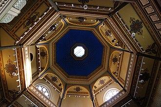 Cupola - Image: Cupola ceiling Synagogue Gyor Hungary
