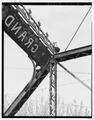 DETAIL OF SOUTHWEST ENDPOST - Grand Avenue Bridge, Spanning O'Neil Creek at Grand Avenue, Neillsville, Clark County, WI HAER WIS,10-NEIL,2-10.tif