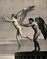 Daedalus and Icarus. Engraving by A.G.L. Desnoyers after C.P Wellcome V0036069.jpg