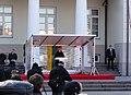 Dalia Grybauskaitė outside the Presidents palace in Vilnius.jpg