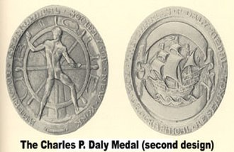 Charles P. Daly Medal - Image: Daly 2medal