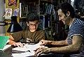 Damià Torres Latorre fent matemàtiques amb Alejandro Miralles Montolío, Alginet (Ribera Alta - País Valencià, 2012).jpg