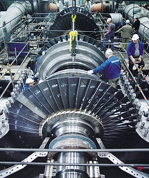 Power engineering - A steam turbine used to provide electric power.
